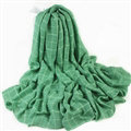 Classic Plaid Unisex Scarf Shawl Winter Warm Cotton Solid Panties 150*120CM - Green