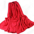 Classic Plaid Unisex Scarf Shawl Winter Warm Cotton Solid Panties 150*120CM - Red
