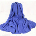 Classic Plaid Unisex Scarf Shawl Winter Warm Cotton Solid Panties 150*120CM - Royal Blue