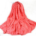 Classic Plaid Unisex Scarf Shawl Winter Warm Cotton Solid Panties 150*120CM - Watermelon Red