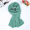 Classic Unisex Scarf Cashmere Warm Winter Solid Scarves Wraps 180*35CM - Green