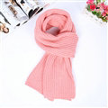 Classic Unisex Scarf Cashmere Warm Winter Solid Scarves Wraps 180*35CM - Pink