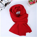 Classic Unisex Scarf Cashmere Warm Winter Solid Scarves Wraps 180*35CM - Red