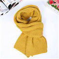 Classic Unisex Scarf Cashmere Warm Winter Solid Scarves Wraps 180*35CM - Yellow