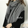 Classic Unisex Scarf Shawl Winter Warm Cashmere Solid Panties 200*60CM - Grey
