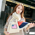 Classic Unisex Scarf Striped Cashmere Warm Winter Solid Scarves Wraps 200*35CM - Beige