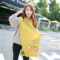 Classic Unisex Scarf Striped Cashmere Warm Winter Solid Scarves Wraps 200*35CM - Yellow