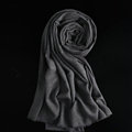 Colorful Unisex Scarf Shawl Winter Warm Cashmere Solid Panties 180*60CM - Dark Grey