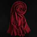 Colorful Unisex Scarf Shawl Winter Warm Cashmere Solid Panties 180*60CM - Dark Red