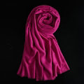 Colorful Unisex Scarf Shawl Winter Warm Cashmere Solid Panties 180*60CM - Purple