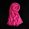 Colorful Unisex Scarf Shawl Winter Warm Cashmere Solid Panties 180*60CM - Rose