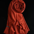 Colorful Unisex Scarf Shawl Winter Warm Cashmere Solid Panties 180*60CM - Rust Red