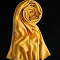Colorful Unisex Scarf Shawl Winter Warm Cashmere Solid Panties 180*60CM - Yellow