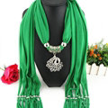 Cool Women Scarf Shawls Winter Warm Polyester Solid Scarves 180*40CM - Dark Green