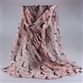 Cute Women Scarf Print Animal Dogs Bamboo Fiber Scarves Wraps 180*90CM - Pink