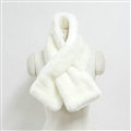 Cute Women Scarf Shawl Winter Warm Worsted Solid Wraps 100*20CM - White