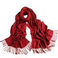 Exquisite Scarf Shawls Winter Warm Cashmere Solid Wholesale 200*60CM - Dark Red