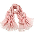 Exquisite Scarf Shawls Winter Warm Cashmere Solid Wholesale 200*60CM - Pink
