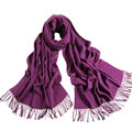 Exquisite Scarf Shawls Winter Warm Cashmere Solid Wholesale 200*60CM - Purple