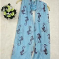 Fashion Unisex Scarf Animal Bamboo Fiber Scarves Wraps 180*90CM - Blue