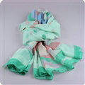 Free Striped Women Scarf Dot Bamboo Fiber Warm Scarves Wraps 180*90CM - Green