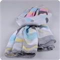 Free Striped Women Scarf Dot Bamboo Fiber Warm Scarves Wraps 180*90CM - Grey