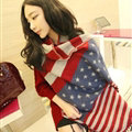 Geometric Scarf Shawls Unisex Pashmina Winter Warm Cashmere Panties 200*65CM - Red