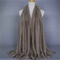 Good Solid Women Scarf Dot Bamboo Fiber Warm Scarves Wraps 180*95CM - Beige