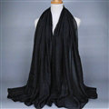 Good Solid Women Scarf Dot Bamboo Fiber Warm Scarves Wraps 180*95CM - Black