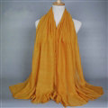 Good Solid Women Scarf Dot Bamboo Fiber Warm Scarves Wraps 180*95CM - Yellow