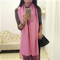 Pashmina Women Scarf Shawl Cashmere Warm Winter Solid Scarves 190*70CM - Pink