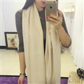 Pashmina Women Scarf Shawl Cashmere Warm Winter Solid Scarves 190*70CM - White