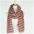 Plaid Scarf Shawls Pashmina Women Winter Warm Wool Solid Scarves 200*50CM - Pink
