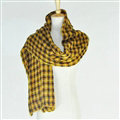 Plaid Scarf Shawls Pashmina Women Winter Warm Wool Solid Scarves 200*50CM - Yellow