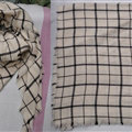 Plaid Scarf Shawls Women Winter Warm Cashmere Solid Wholesale 140*140CM - Beige