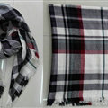 Plaid Scarf Shawls Women Winter Warm Cashmere Solid Wholesale 140*140CM - Black