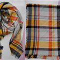Plaid Scarf Shawls Women Winter Warm Cashmere Solid Wholesale 140*140CM - Yellow