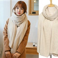 Pretty Unisex Scarf Shawl Winter Warm Cashmere Solid Panties 220*60CM - Beige