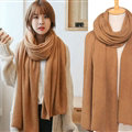 Pretty Unisex Scarf Shawl Winter Warm Cashmere Solid Panties 220*60CM - Brown