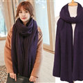 Pretty Unisex Scarf Shawl Winter Warm Cashmere Solid Panties 220*60CM - Dark Purple