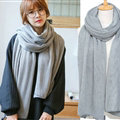 Pretty Unisex Scarf Shawl Winter Warm Cashmere Solid Panties 220*60CM - Grey