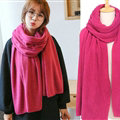 Pretty Unisex Scarf Shawl Winter Warm Cashmere Solid Panties 220*60CM - Purplish Red