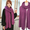 Pretty Unisex Scarf Shawl Winter Warm Cashmere Solid Panties 220*60CM - Violet