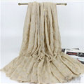Print Fawn Women Pashmina Shawl Winter Warm Cotton Solid Panties 190*150CM - Beige