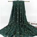 Print Fawn Women Pashmina Shawl Winter Warm Cotton Solid Panties 190*150CM - Blackish Green