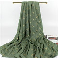 Print Fawn Women Pashmina Shawl Winter Warm Cotton Solid Panties 190*150CM - Green