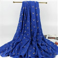 Print Fawn Women Pashmina Shawl Winter Warm Cotton Solid Panties 190*150CM - Sapphire Blue