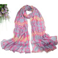Print Women Scarf Flower Bamboo Fiber Warm Scarves Wraps 180*90CM - Pink