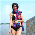 Print Women Scarf Shawls Winter Warm Cashmere Solid Scarves 180*70CM - Purple