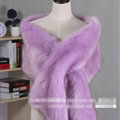 Quality Bridal Fur Scarf Shawls Women Winter Warm Solid Panties 165*30CM - Purple